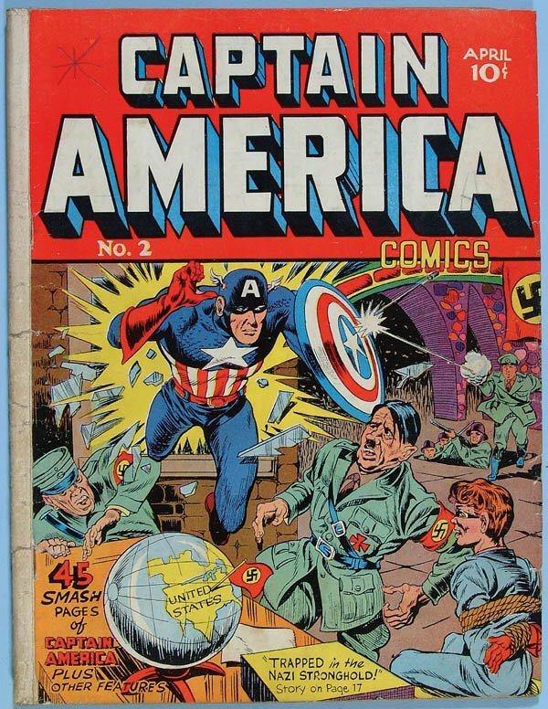 1158: CAPTAIN AMERICA COMIC BOOK #2, 1941. Classic Hitl
