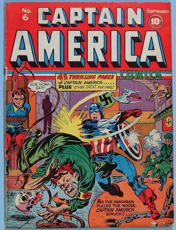 1160: CAPTAIN AMERICA COMIC BOOK #6, 1941. Tear at top