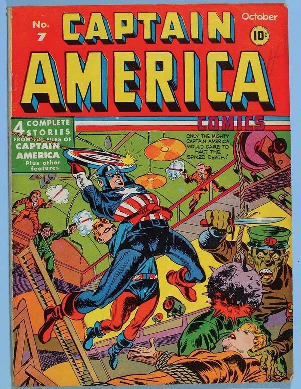1161: CAPTAIN AMERICA COMIC BOOK #7, 1941. Classic cove