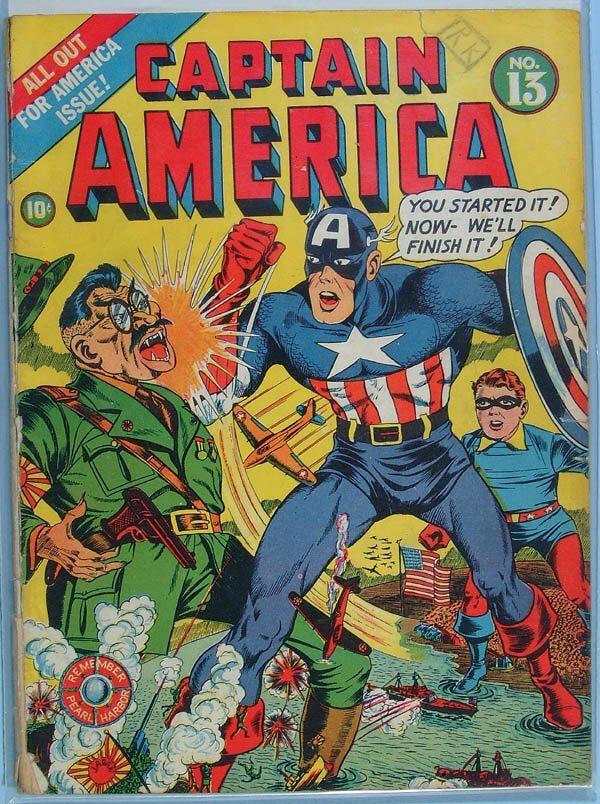 1163: THREE CAPTAIN AMERICA COMIC BOOKS, ISSUE #13 1942