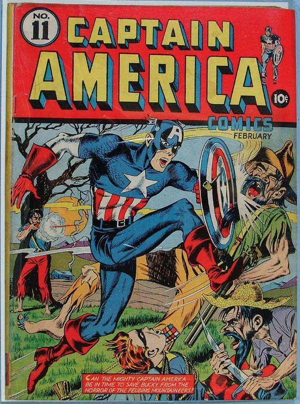 1164: CAPTAIN AMERICA COMIC BOOK #11, 1941. Full cover