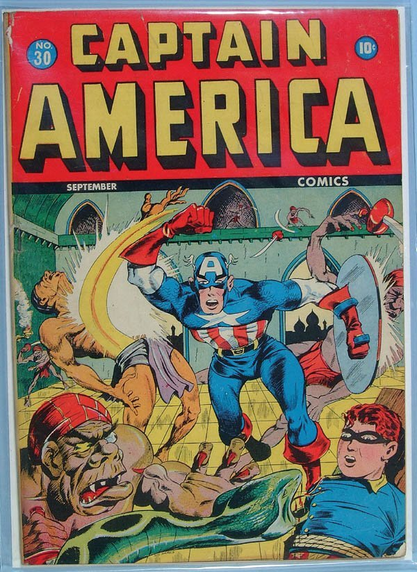 1165: TWO CAPTAIN AMERICA COMIC BOOKS, ISSUE #30 AND #3