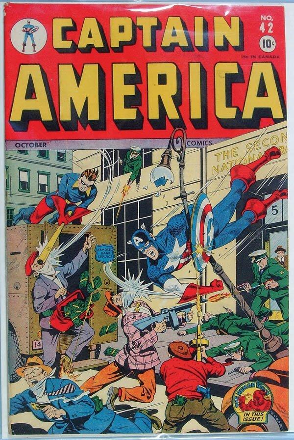 1167: CAPTAIN AMERICAN COMIC BOOK #42, 1944. Upper righ