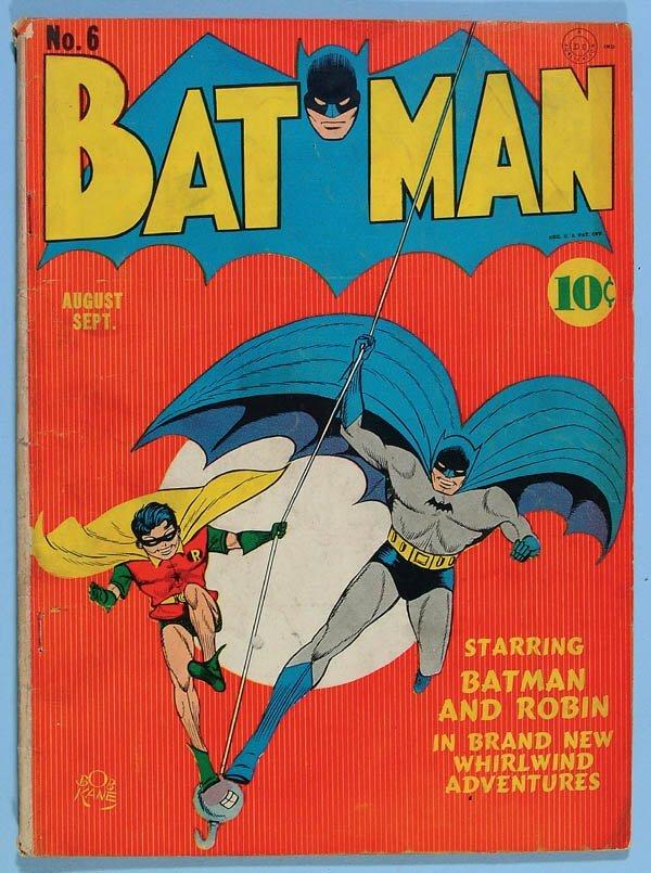 1170: BATMAN COMIC BOOK #6, 1941. Cover loose at bottom