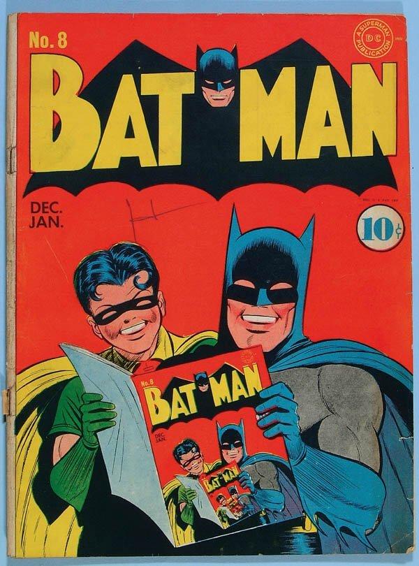 1171: BATMAN COMIC BOOK #8, 1941. Off white/cream pages
