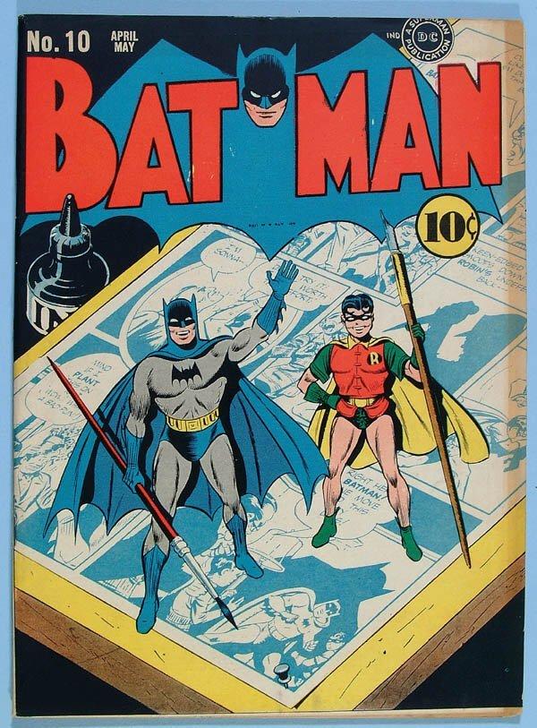 1172: BATMAN COMIC BOOK #10, 1942. Gorgeous copy, off w