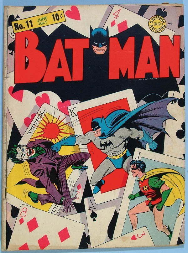 1173: BATMAN COMIC BOOK #11, 1942. Classic Joker story.