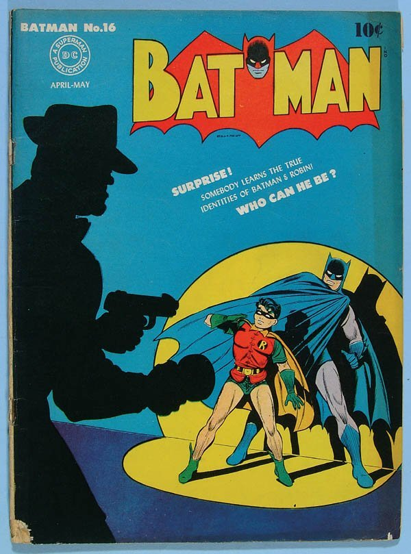 1174: TWO BATMAN COMIC BOOKS #14 AND #16, 1943. Second