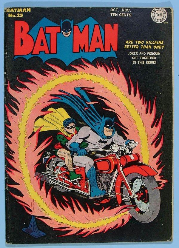 1177: BATMAN COMIC BOOK #25, 1944. First Joker/Penguin
