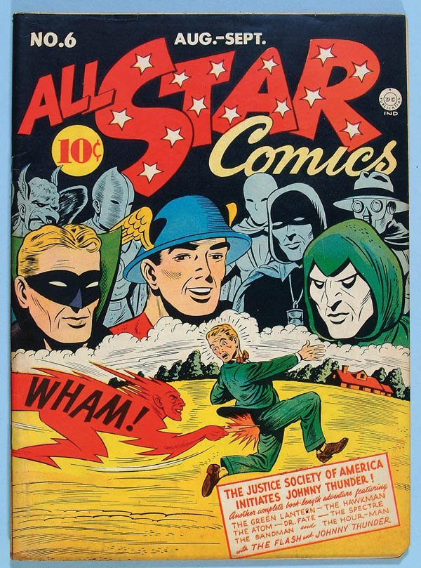 1178: ALL STAR COMICS #6, 1941. Missing bottom right co