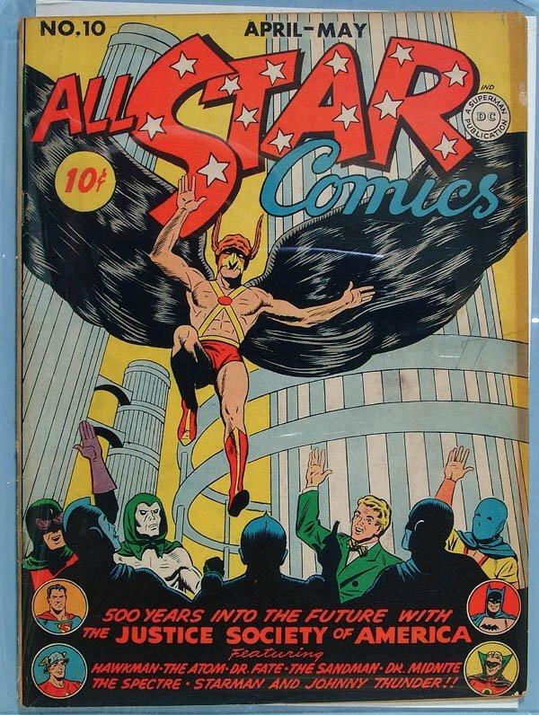 1180: ALL STAR COMICS #10, 1942. Tight, solid, flat wit