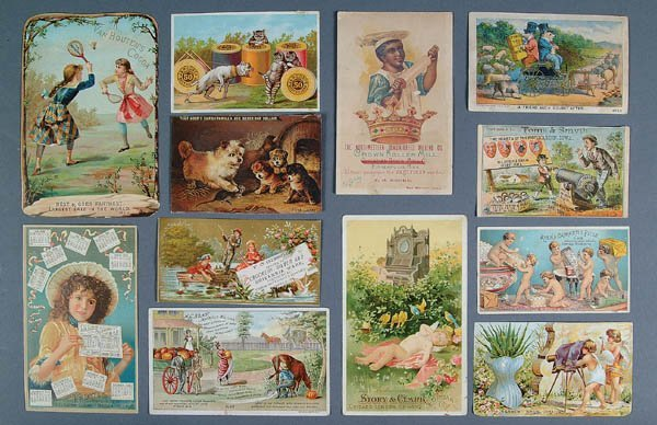 1360: TRADE CARDS: A large collection of over 1,400 cir