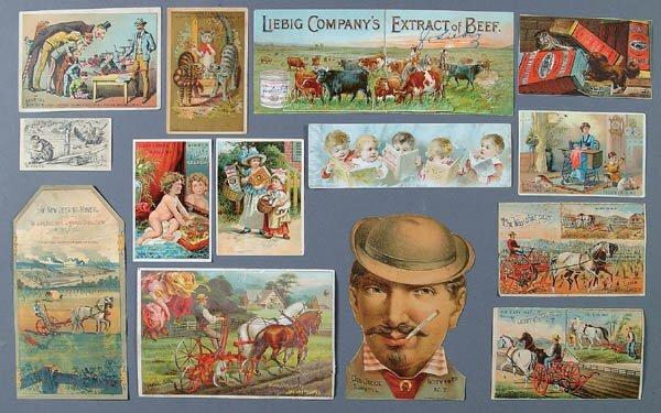 1361: TRADE CARDS: Over 1,000 circa 19th/early 20th cen