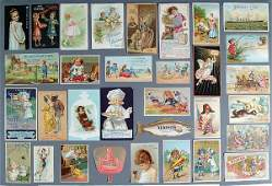 1367: TRADE CARDS: A good group lot of over 650 trade c