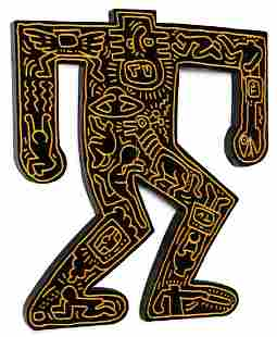 LARGE & IMPORTANT KEITH HARING SCULPTURE, 1983