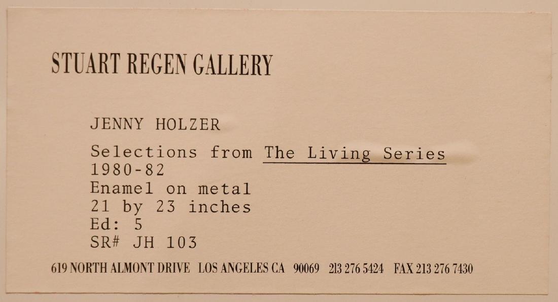 ORIGINAL JENNY HOLZER WITH GREAT PROVENANCE - 4