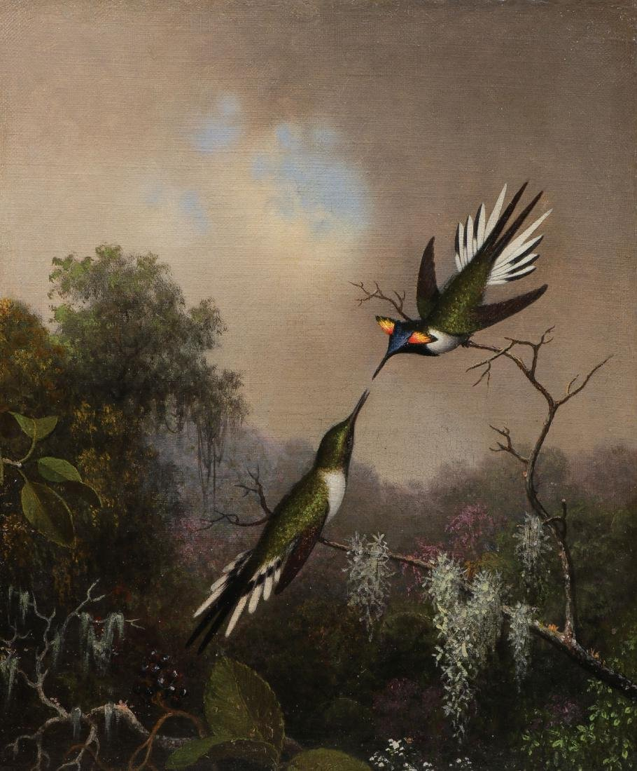 IMPORTANT M.J. HEADE HUMMINGBIRD PAINTING
