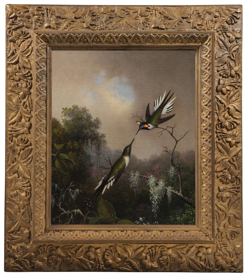 IMPORTANT M.J. HEADE HUMMINGBIRD PAINTING - 2