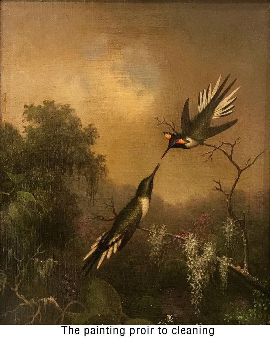 IMPORTANT M.J. HEADE HUMMINGBIRD PAINTING - 4