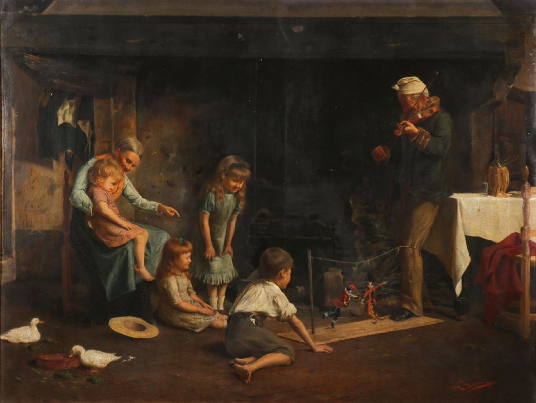 GREAT ALLESSANDRO SANI GENRE PAINTING