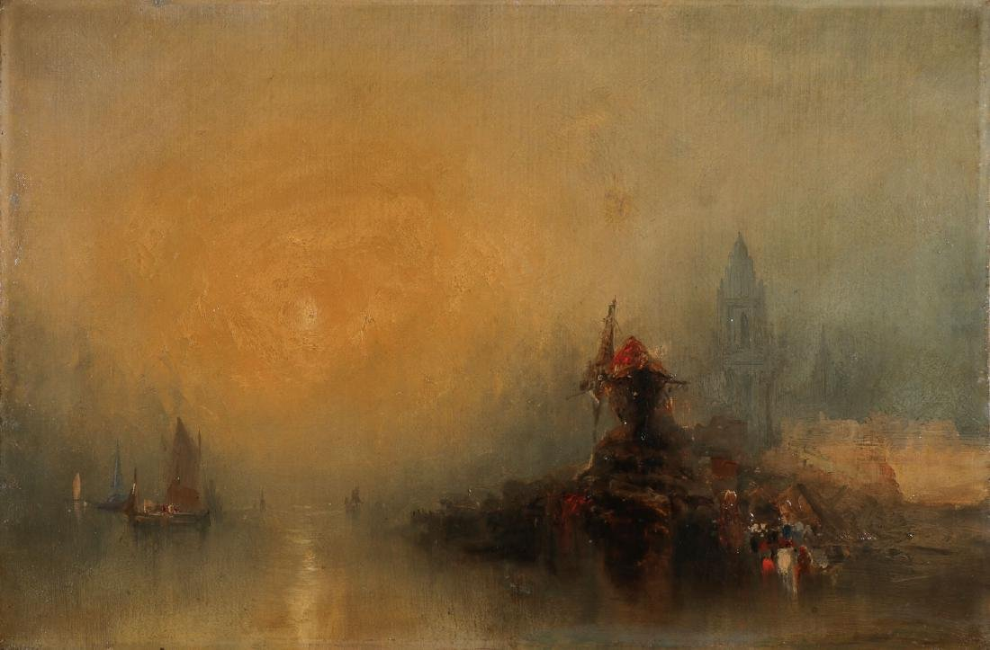 TURNER RELATED OIL ON CANVAS PAINTING