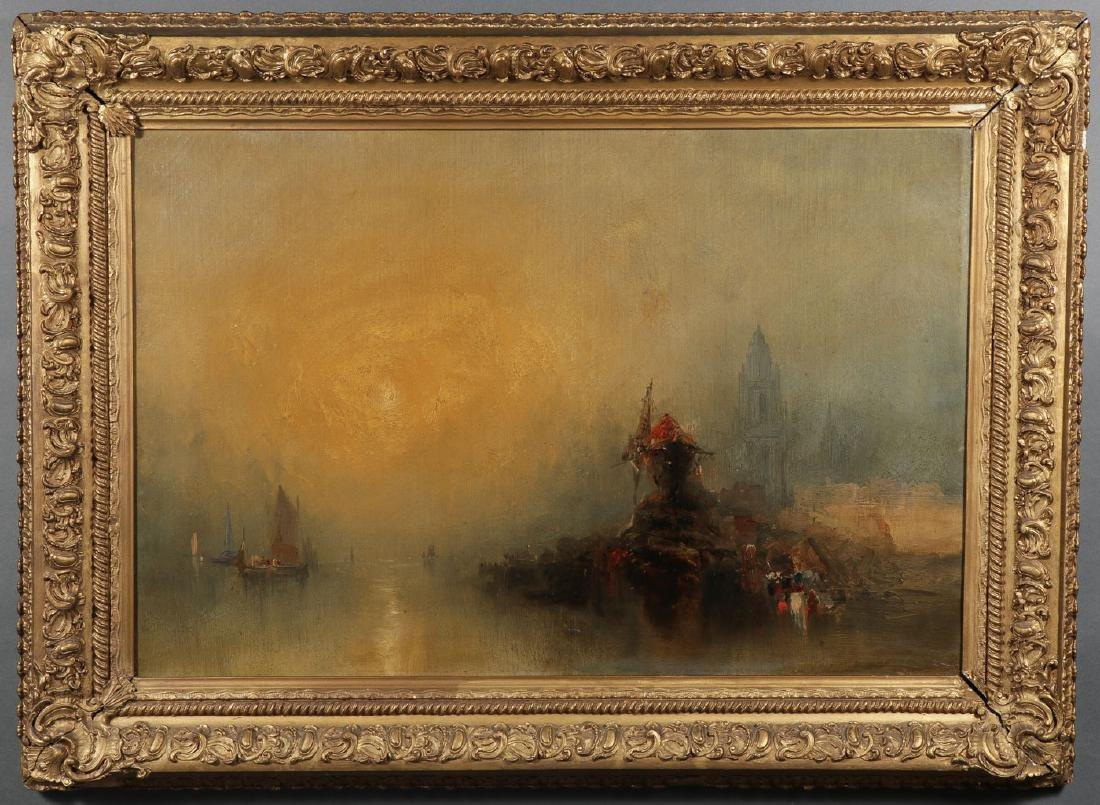 TURNER RELATED OIL ON CANVAS PAINTING - 2
