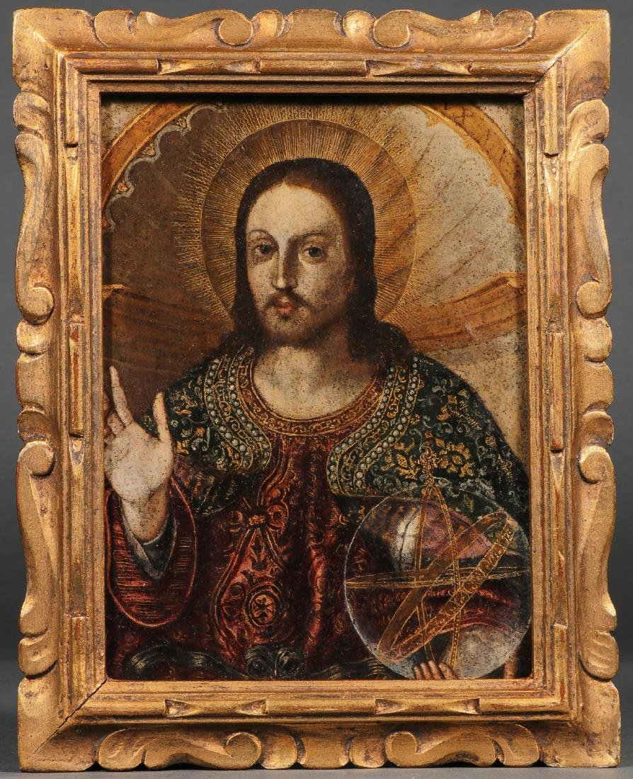 OIL ON COPPER PAINTING OF CHRIST - 2