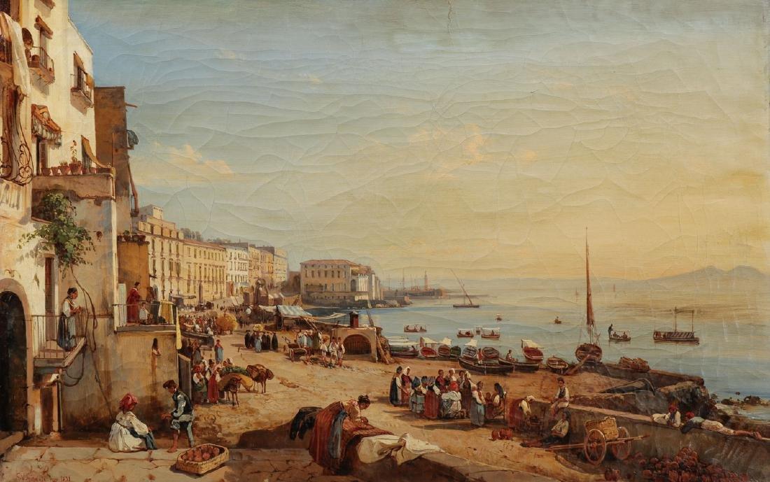GOOD GIACINTO GIGANTE NAPLES SCENE 1839