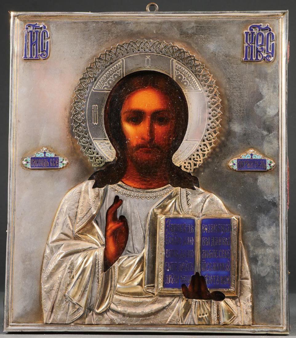 A RUSSIAN ICON OF CHRIST, CIRCA 1900
