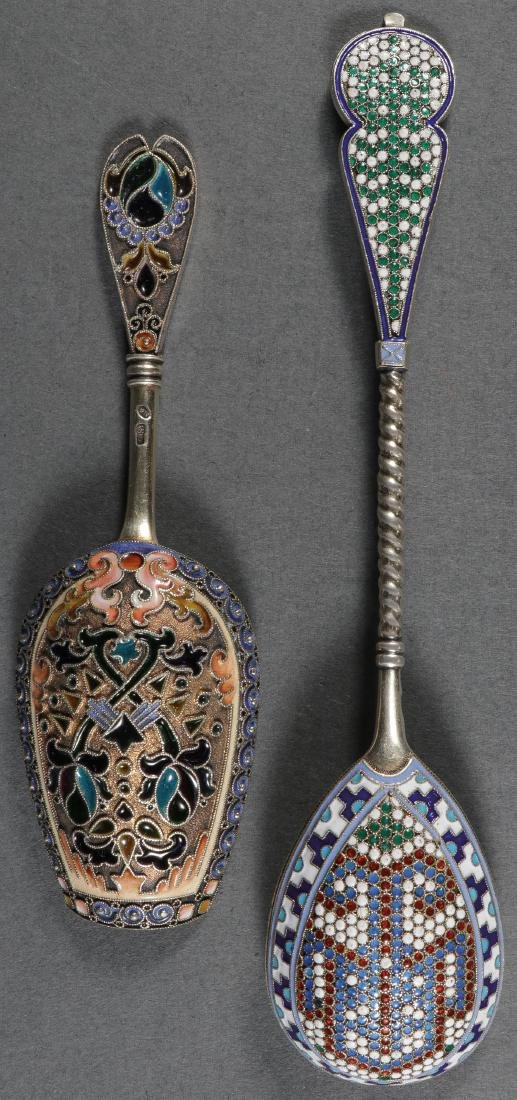 GROUP OF RUSSIAN SILVER & ENAMEL, MOSCOW C. 1890 - 2