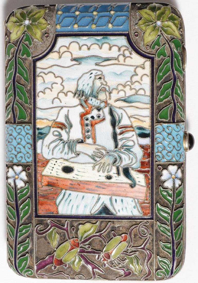 RUSSIAN SHADED ENAMELED CIGARETTE CASE - 2