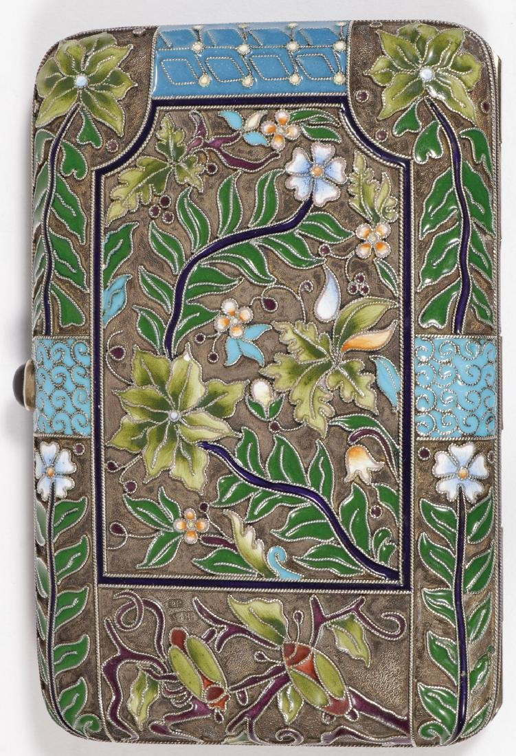RUSSIAN SHADED ENAMELED CIGARETTE CASE - 3