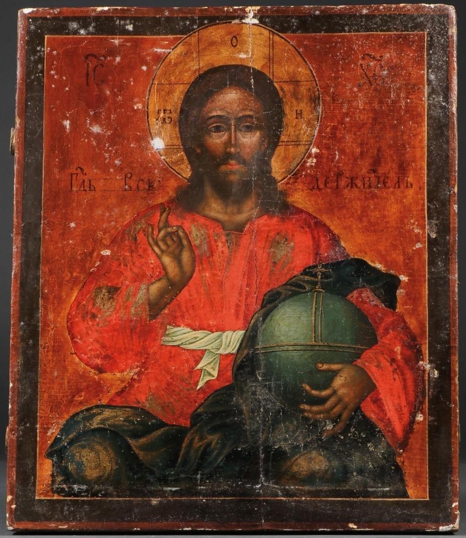 A ROCOCO RUSSIAN ICON OF CHRIST, 1779 - 2