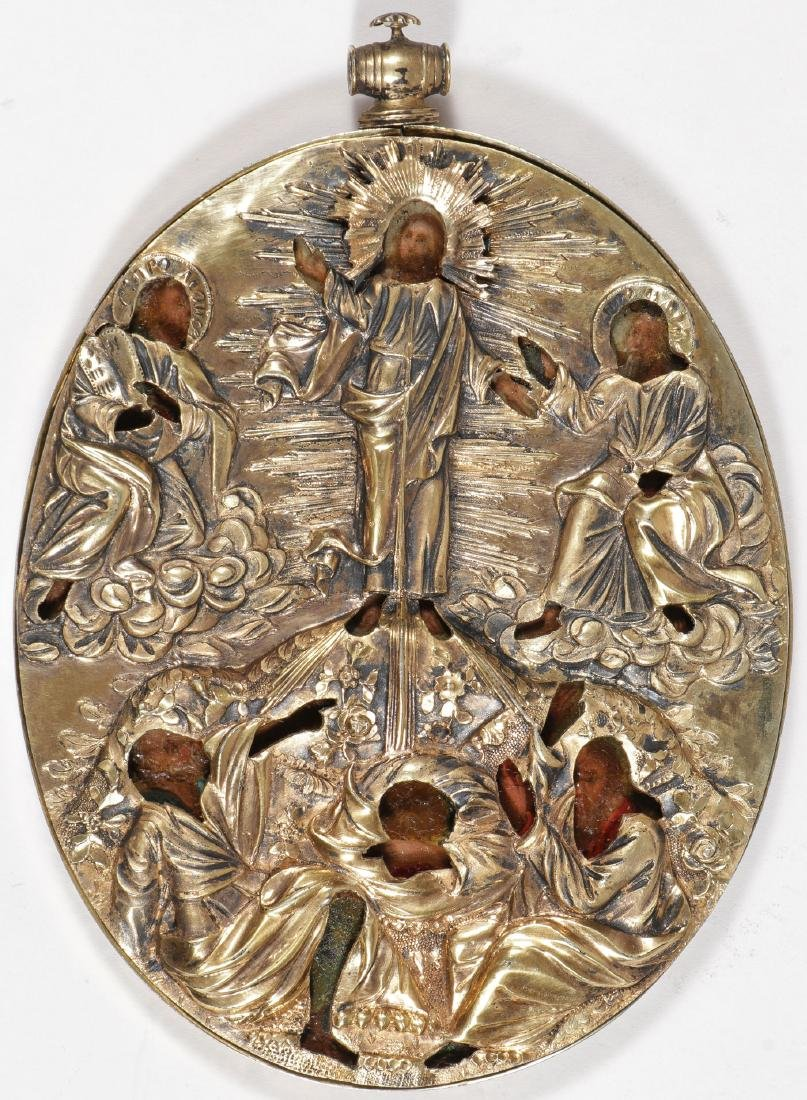 LARGE RUSSIAN PENDANT ICON CIRCA 1800 - 2