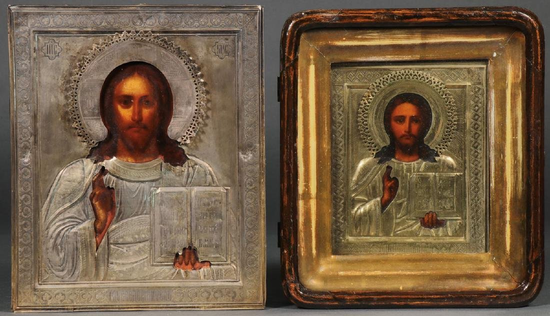 TWO RUSSIAN ICONS DEPICTING CHRIST, CIRCA 1900