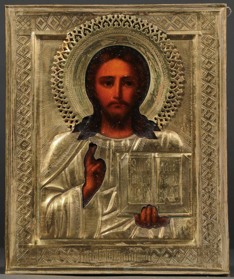 TWO RUSSIAN ICONS DEPICTING CHRIST, CIRCA 1900 - 3
