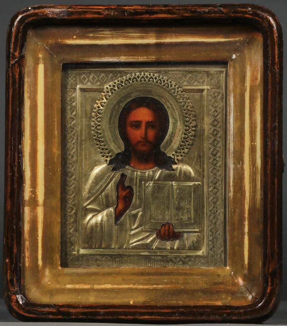 TWO RUSSIAN ICONS DEPICTING CHRIST, CIRCA 1900 - 4