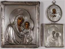 FOUR RUSSIAN ICONS CIRCA 1875