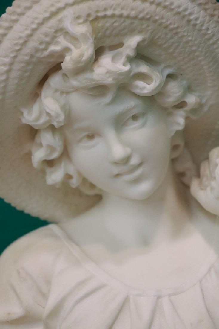 ITALIAN CARVED MARBLE FIGURE C 1890 - 4