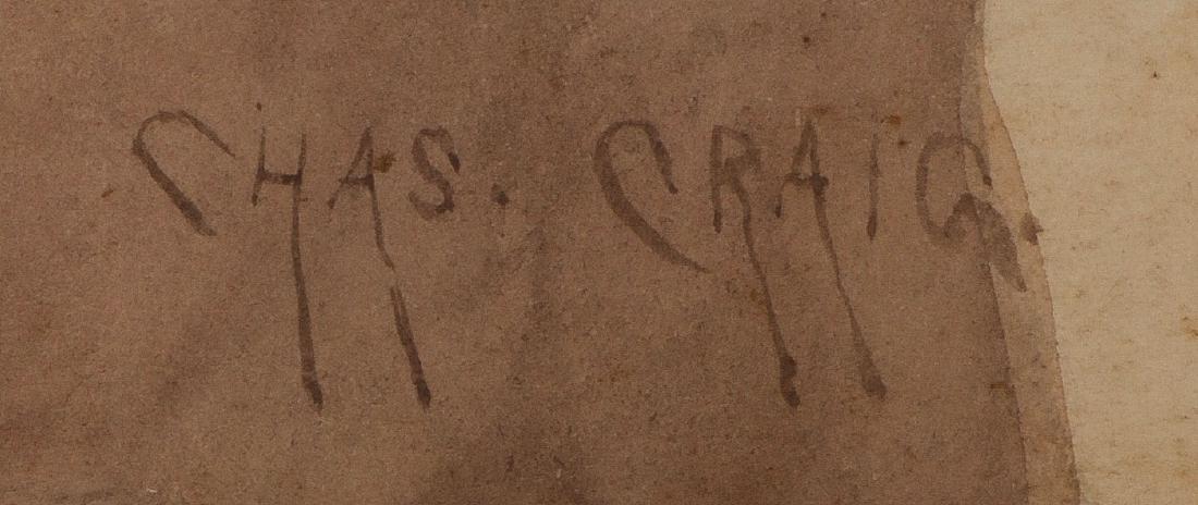 GREAT NATIVE AMERICAN PAINTING CHARLES CRAIG C.1910 - 3