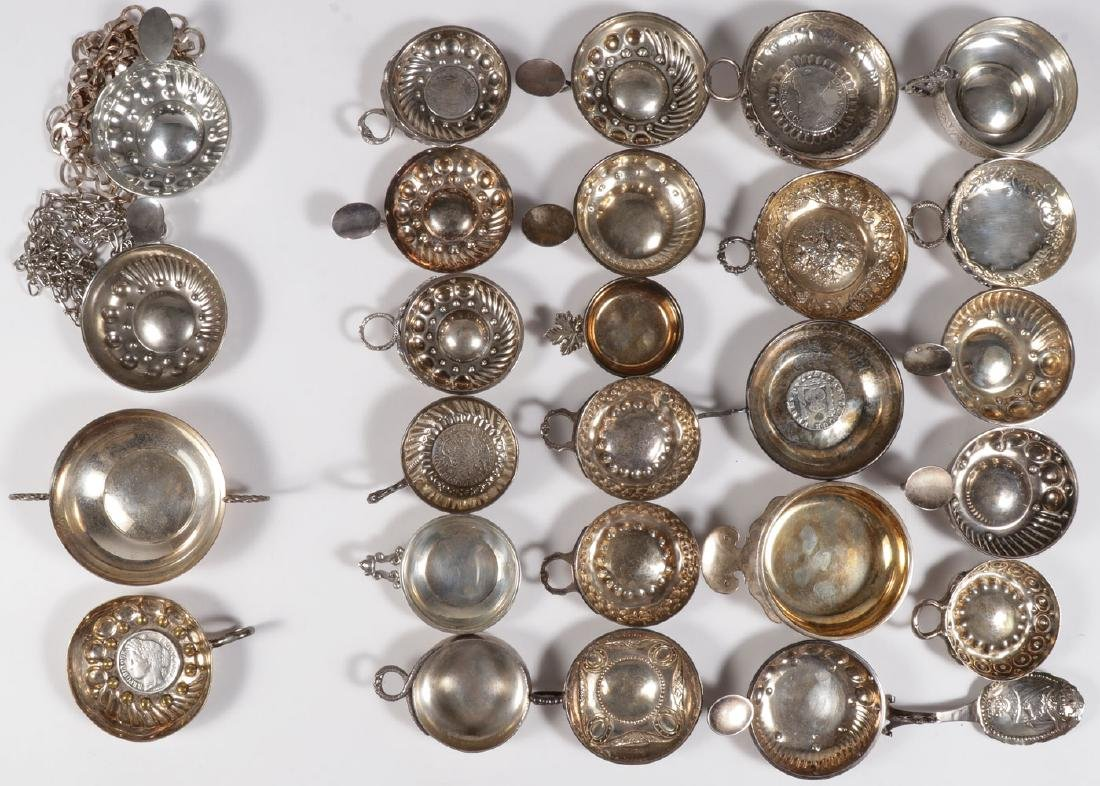 A GROUP OF 22 SILVER TASTEVIN, 19TH & 20TH C - 2