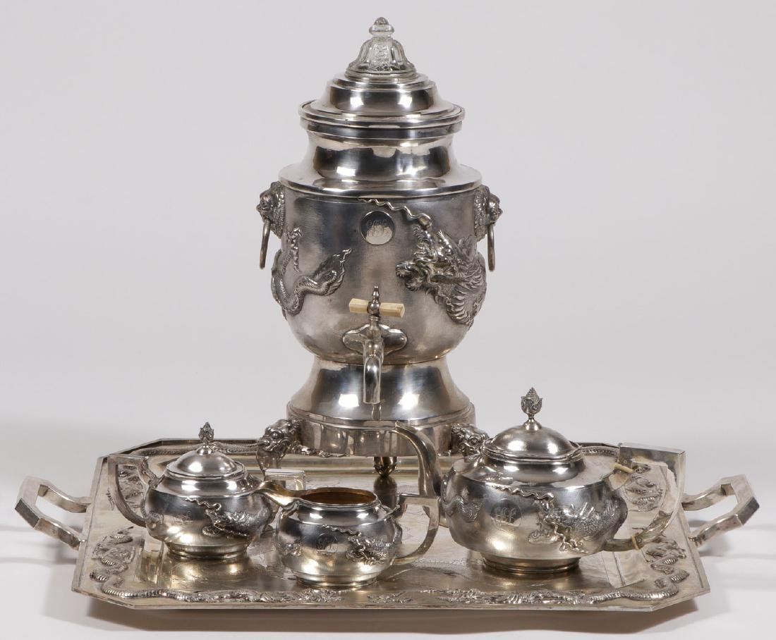 CHINESE EXPORT SILVER COFFEE SERVICE, C 1925