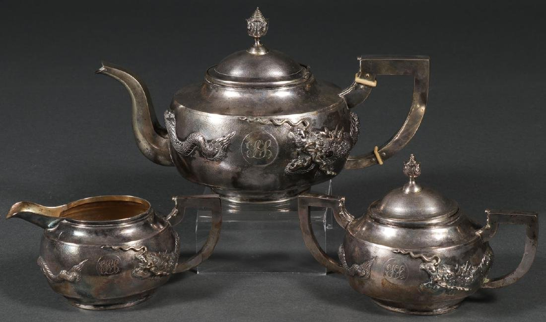 CHINESE EXPORT SILVER COFFEE SERVICE, C 1925 - 6