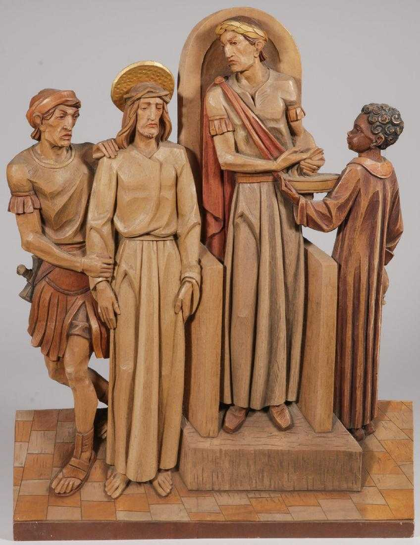 CARVED STATIONS OF THE CROSS