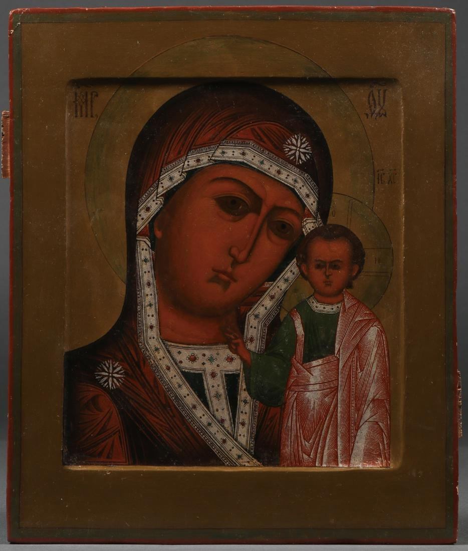 RUSSIAN ICON OF THE KAZAN MOTHER OF GOD