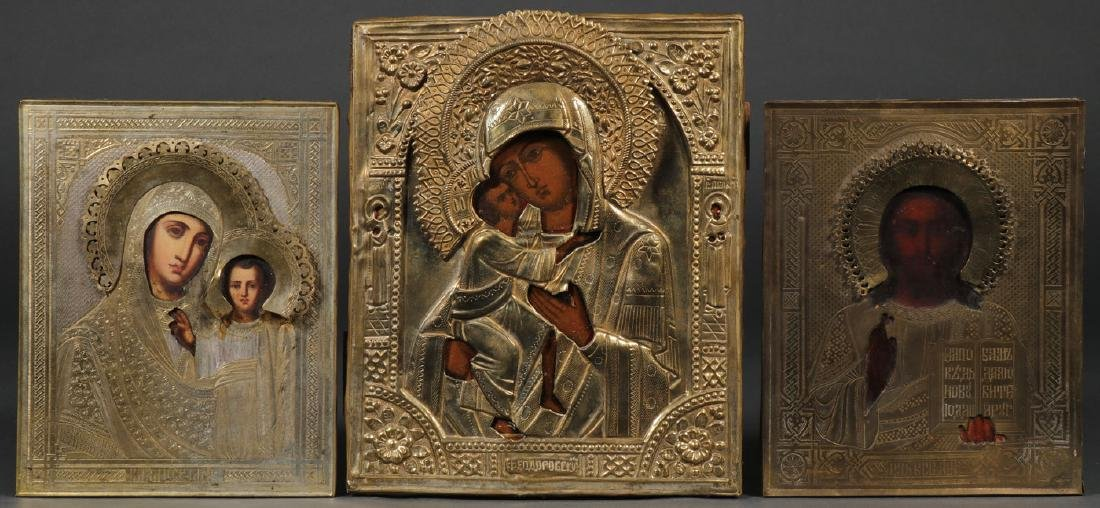 THREE RUSSIAN ICONS, CIRCA 1890