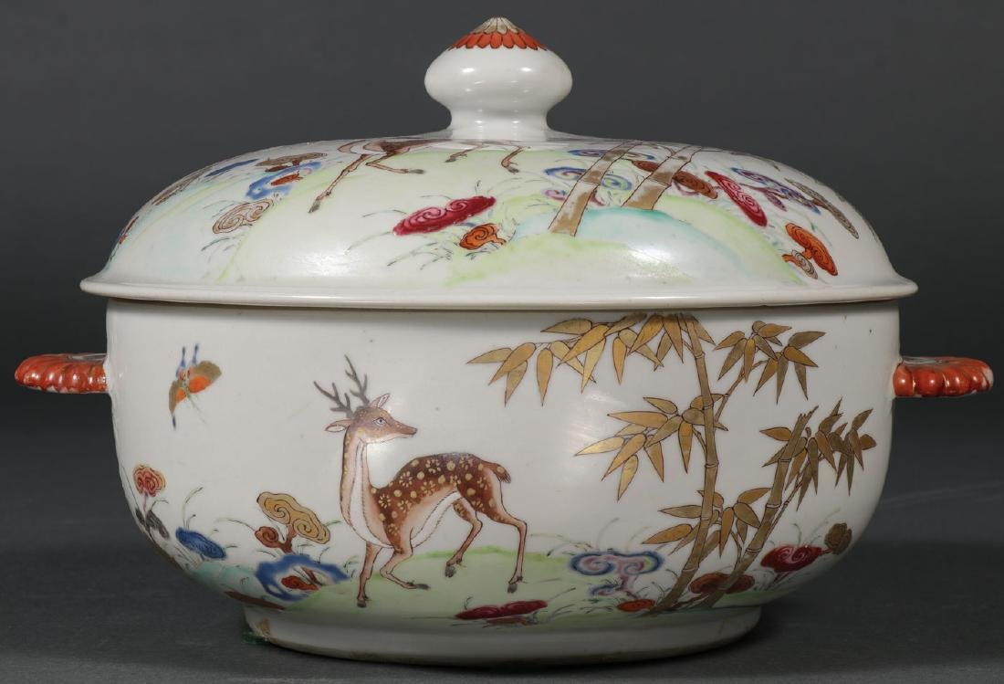 A CHINESE EXPORT COVERED TUREEN, CIRCA 1740
