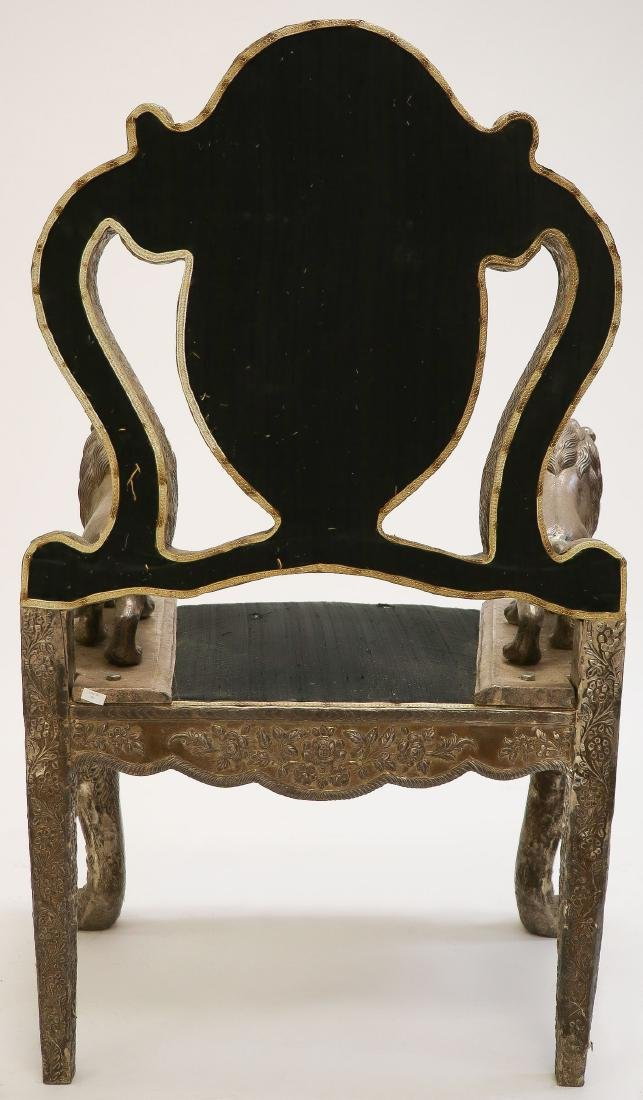 AN INTERESTING LION THRONE CHAIR, PROBABLY INDIA - 4