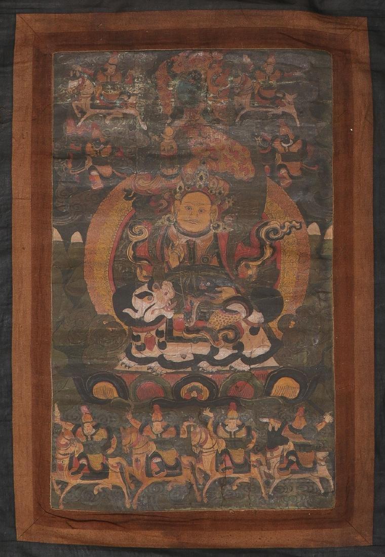 A SINO-TIBETAN THANGKA, PROBABLY 19TH CENTURY