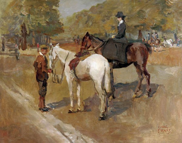 1: ISAAC ISRAELS (Dutch 1865-1934), A Ride in the Pa